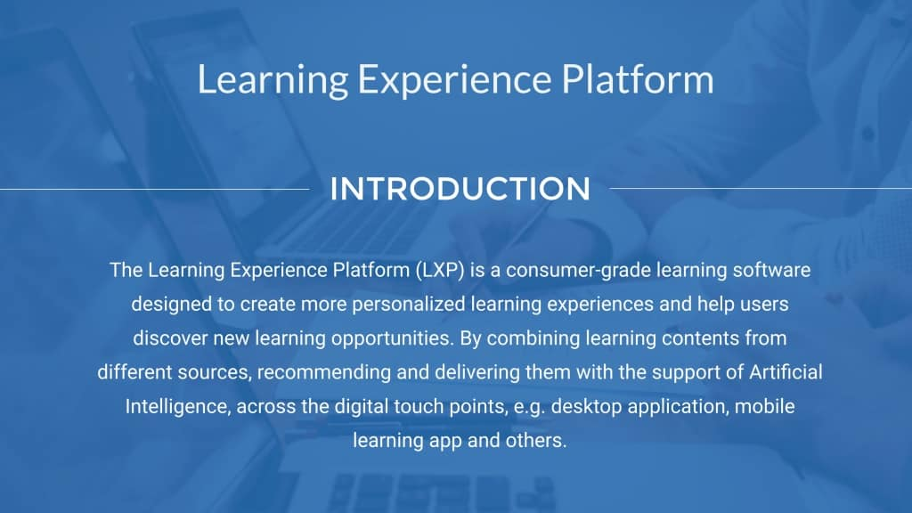learning experience platform definition
